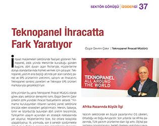"İzodergi - ""Teknopanel fait la différence dans les exportations"""