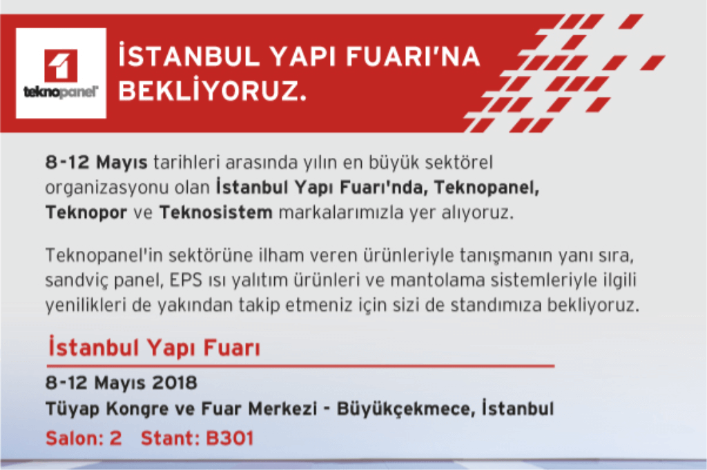 İstanbul Yapı Fuarı'na Ziyaretçilerimizi Bekliyoruz!