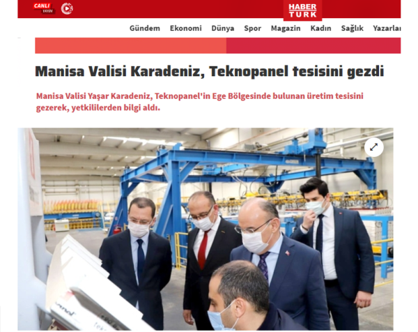 Haberturk.com - Yaşar Karadeniz, The Governor of Manisa, Visited Teknopanel Facility