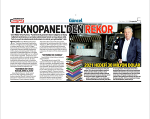 "Journal Hurriyet: ""Record de Teknopanel"""