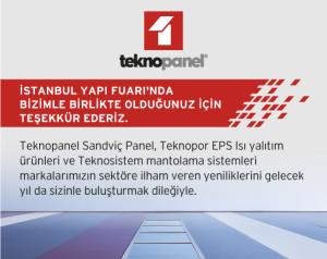 İstanbul Yapı Fuarı'nda bizimle birlikte olduğunuz için çok teşekkür ederiz.
