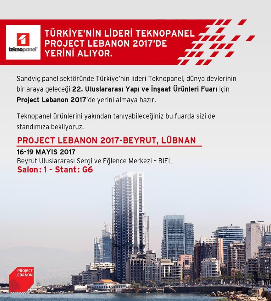 Project Lübnan Fuarı'ndayız!