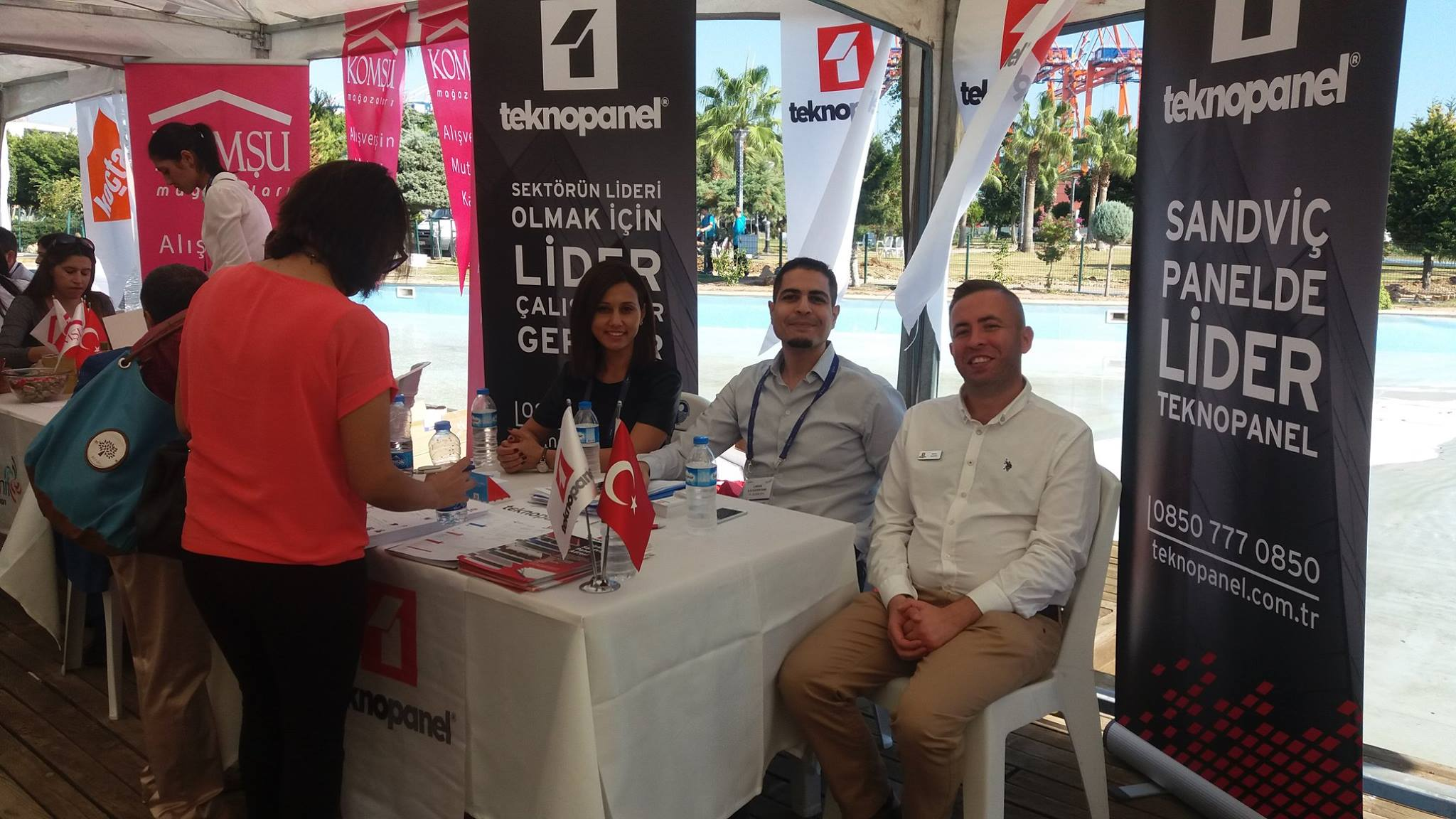 Teknopanel's stand attracted intensive attention at Mersin Job and Career Fair.