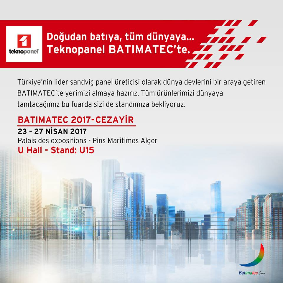 Teknopanel BATIMATEC-CEZAYİR'de..