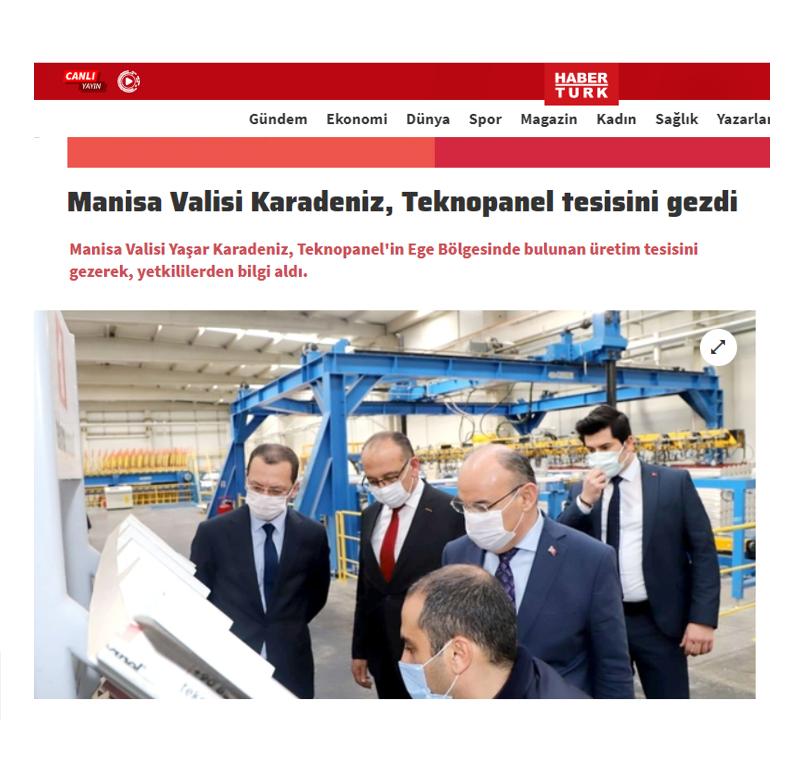 Haberturk.com - Manisa Valisi Yaşar Karadeniz Teknopanel Üretim Tesisini Ziyaret Etti