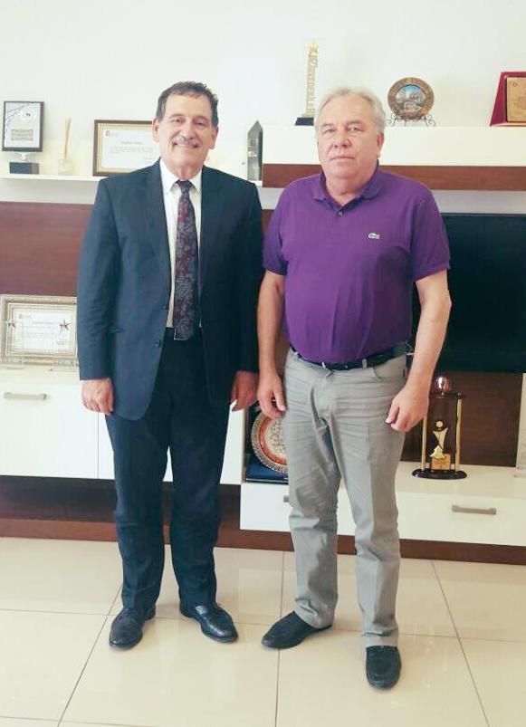 Koç Üniversitesi Rektörü Prof Dr. Umran İnan Teknopanel'i ziyaret etti