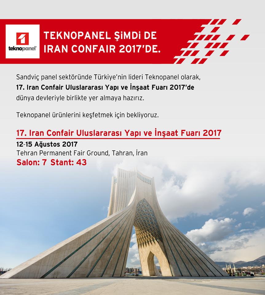 İran Confair 2017'de Ziyaretçilerimizi Bekliyoruz!
