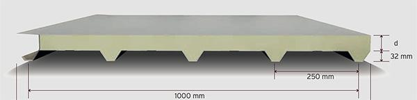 5 Hadveli Membranlı Çatı Paneli