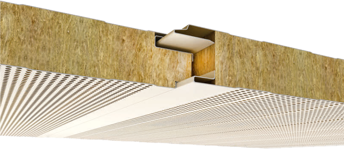 Gizli Vidalı Akustik Cephe Paneli-Mersin